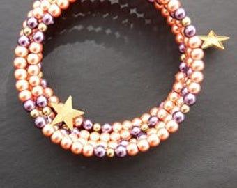 Pearl Memory Wire Bracelet
