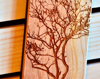 Tree branch Laser engraved Wood case with rubber coated plastic for iPhone 6 6s 6 plus 6s plus 7 7 plus 8 8 plus x