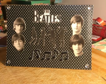 Vintage Ephemera Beatles Greeting Card