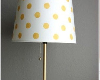 Gold (or any custom color) polka dot lamp shade  FREE SHIPPING!!!