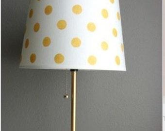 Gold (or Any Custom Color) Polka Dot Lamp Shade FREE SHIPPING!
