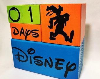 Disney Countdown Block Set - Goofy Edition