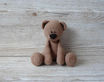 Brown Bear, Crochet Bear, Baby Gift, Gender Neutral, Birthday, Christmas, teddy bear