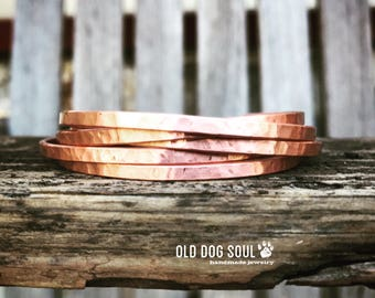 Hammered Copper cuff, hand stamped personalized bracelet, Minimalist, skinny cuff bracelet, quote cuff bracelet, Personalized cuff bracelet