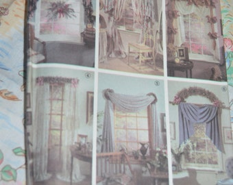 Simplicity 7721  Window Treatments Jiffy 6 Pack Sewing Pattern - UNCUT