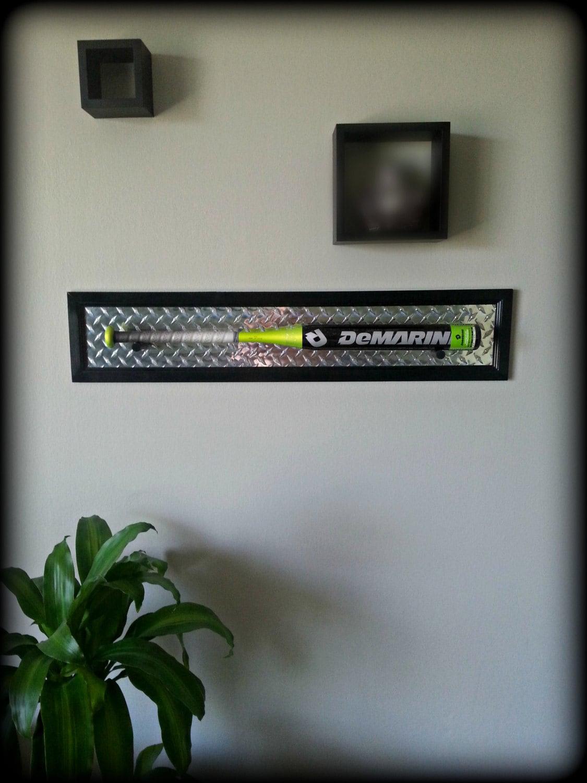 Black baseball bat plaque display wall mount holder wood frame zoom jeuxipadfo Choice Image