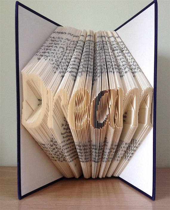 DREAM Book Folding Pattern. DIY gift for book art. Template