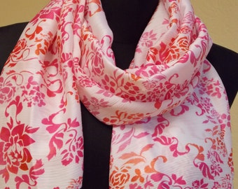 "Silk chiffon scarf  ""ISABELLE"" -  scarf for women -  scarves"