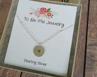 Personalized Necklace Personalized Gift for Women Letter Necklace for Women Gifts Sterling Silver Gift for Her
