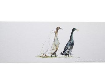 Duck Print 'On The Run' ~ Print In A Pot
