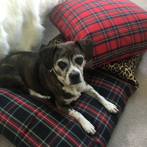 Tartan Dog Bed Cover, Pet Duvets, Pet Bed, Stewart Tartan Dog Bed, Plaid Dog Bed, Durable Dog Bed Cover, Washable Pet Bed, Pet Supplies