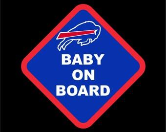 Buffalo Bills Baby On Board | Buffalo Car Decal | Bills Sticker | Go Bills!