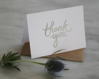 Thank You Embossed Stationary | Nautical Enclosure Card | Set of 5 Enclosures  | Thank you Enclosure Card | Enclosure Card for Present