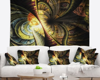 Designart Fractal Illustration Abstract Wall Tapestry, Wall Art Fit for Wall Hanging, Dorm, Home Decor