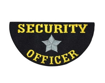 Security Officer Name Tag Patch Private Guard Badge Embroidered Iron On Applique