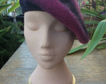 Scottish Tam-o-shanter or beret in pure wool