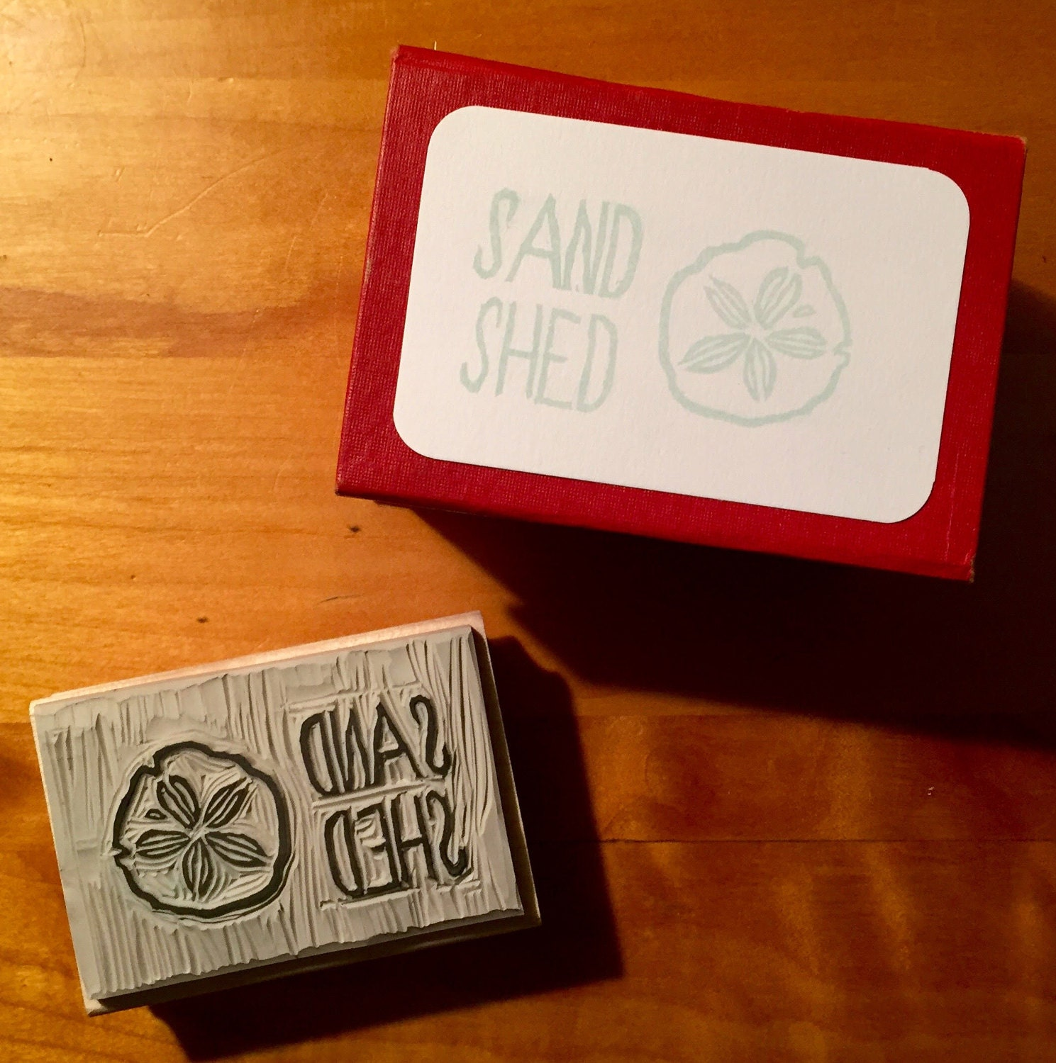 Custom Hand-Carved Stamp, Personalized 2x3 Mounted Rubber Stamp ...
