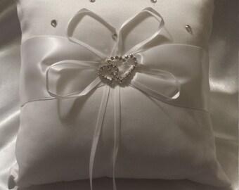 Ring bearer pillow rhinestone ring pillow wedding ring bearer cushion wedding ring pillow  bridal ring pillow