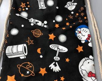 Doraemon  and hello kitty printed bag
