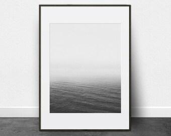 Nautical Print, Printable Art,  Beach Photography, Seascape, Black and White Photography, Beach House Decor, Minimalist Photo, Fading Water