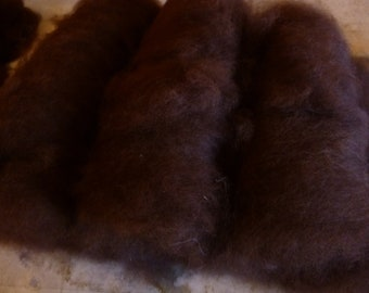 Natural colored Alpaca fibers by the ounce in various forms