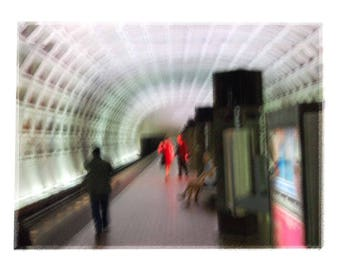 Washington, DC Subway - Travel Computer Enhanced Photographic Art Colorful Wall Decor