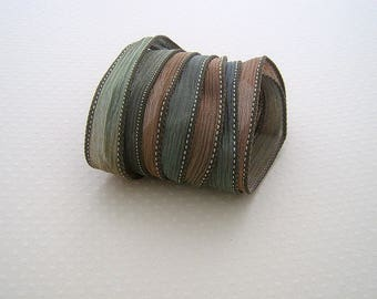 Ribbon color No. 407 hand dyed silk