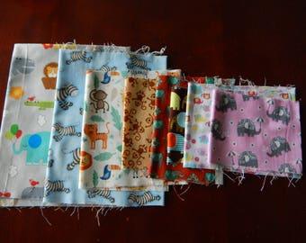 Destash Cotton Fabric - African Animals