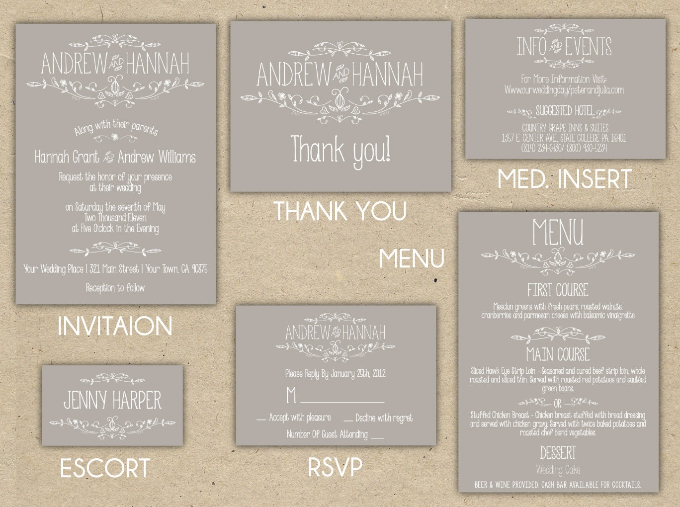 first line of wedding invitations%0A Vintage Wedding Invitation Collection Printable DIY Printed