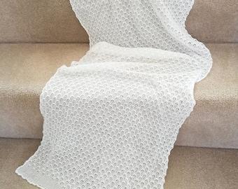 White wedding shawl/ wedding wrap/ wedding stole/ white lace shawl/ white scarf