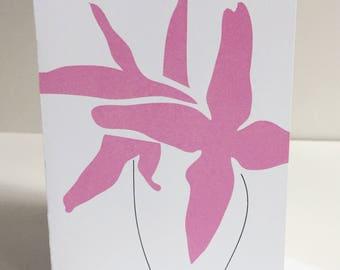 Pink Flower - Single Card