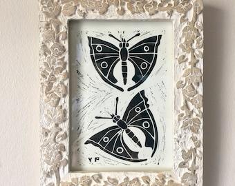 Butterfly Linocut