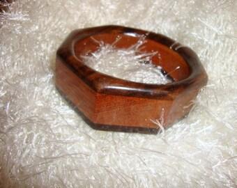 Wooden Octagonal Bracelet  Handmade from reclaimed woods Gifts Under 50 Dollars