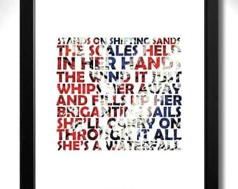 Thumbnail Link To Original 1989 Uk Stone Roses First Al Poster Waterfall Flag Detail Version