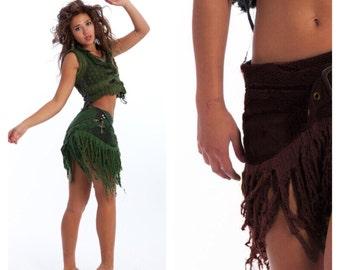 SALE - STEAMPUNK SKIRT, Elf skirt, pixie skirt, gypsie skirt, Crsksr