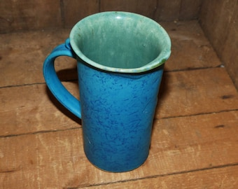 K Freemantle Pottery Handthrown  Coffee Mug Stunning Teal - 1901
