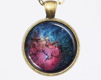 Galaxy Necklace, Nebula Necklace - Constellation, Trifid Nebula, M20 - Galaxy Series
