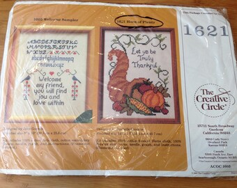 The Creative Circle Needle Point Kit, #1621 Horn of Plenty, Creative Circle Embroidery