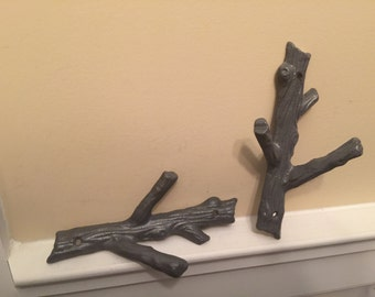Branch Wall Hook/ Tree Branch Cast Iron Hook/ Wall Hook/ Wall Decor/ Jewelry Hanger/ Home and Garden Décor