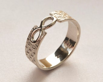alternative ring by bands yellow infinity band his gold and best rings of wedding inspirational stonebrookjewelry with engagement titanium symbol