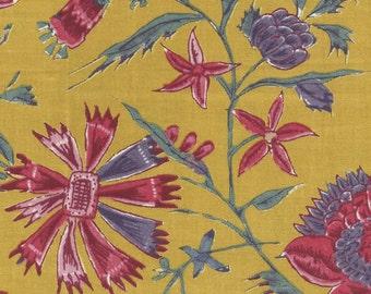 Dutch Chintz - Fleur d'Inde Yellow 1/2 yd