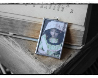 soldered Charm with a nostalgic picture