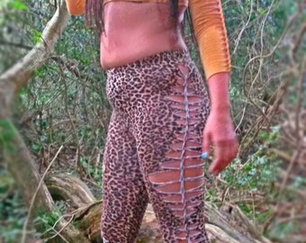 Leopard Print Woven Leggings