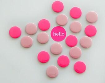 Magnets Neonpink Pink 8 Set