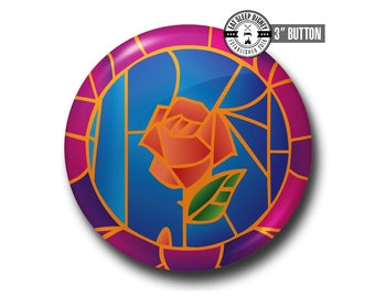 """Beauty and the Beast - 3"""" Button"""