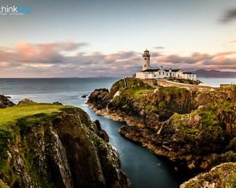 Fanad Head Lighthouse Print - Donegal Ireland Photography - Sunset Coastal  - Ocean Landscape Photograph Photo - Home Decor Irish Wall Art