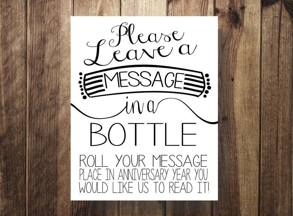 Message in a Bottle Guest Book Beach Rustic Wedding