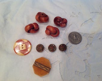 Assorted vintage early plastic buttons, group 1