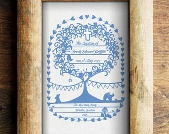 Personalised New Baby/ Christening/ Baptism/ Adoption/ Naming Day/ Nursery Art Print