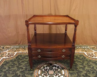 Restored Vintage Solid Mahogany Lamp Table - Imperial Furniture Co.